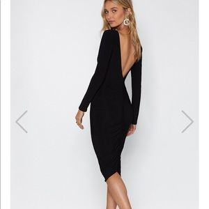 Nasty Gal black long dress